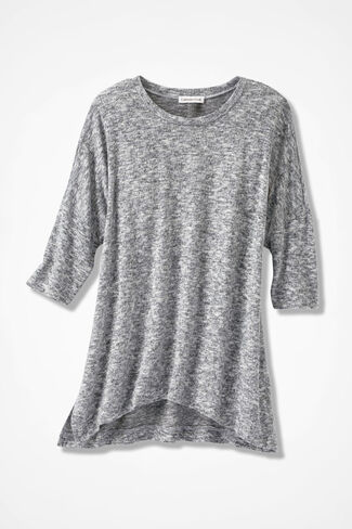 Dream-Soft Plush Tunic, Mid Heather Grey, large