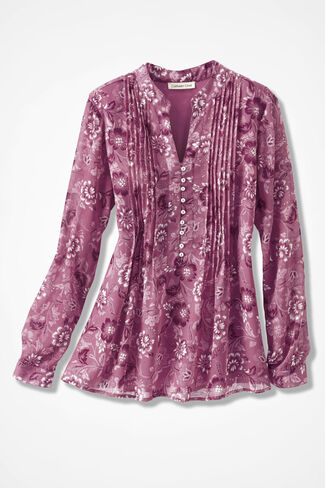 Winter Blooms Blouse, Mulberry, large