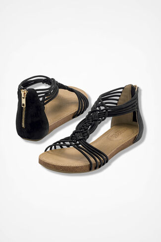 """Nyla"" Sandals from Adam Tucker by Me Too™, Black, large"