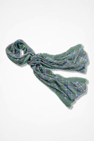 Double Luck Scarf, Lagoon, large