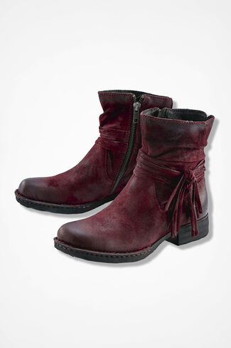 """Cross"" Boots by Born®, Burgundy, large"