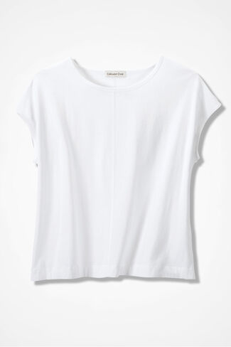 Casual Comfort Tee, White, large