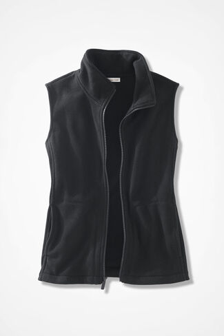 Great Outdoors Fleece Vest, Black, large