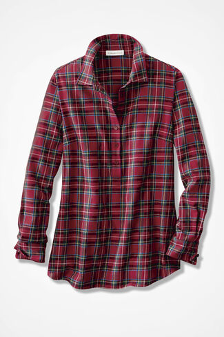 Celebration Plaid Popover, Dover Red, large
