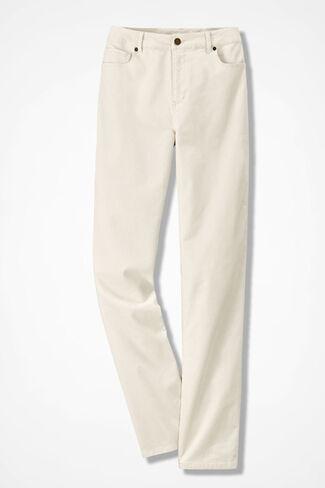 Pinwale Stretch Corduroys, Antique White, large