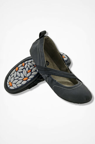 """Via Wrap"" Slip-ons by Acorn®, Black, large"
