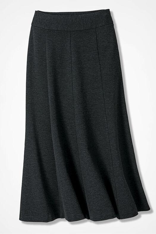 Ponte Perfect® Boot Skirt, Caviar Charcoal, large