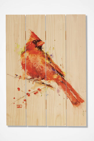 Cardinal on Cedar, Natural, large