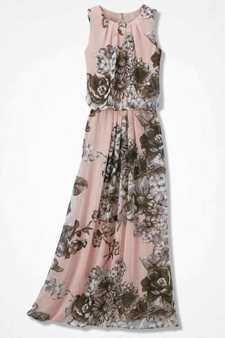 Blushing Blooms Maxi Dress, Petal Pink, large