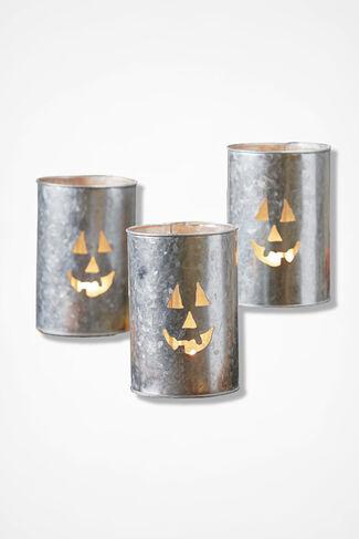Jack O'Lantern Luminary, Silver, large