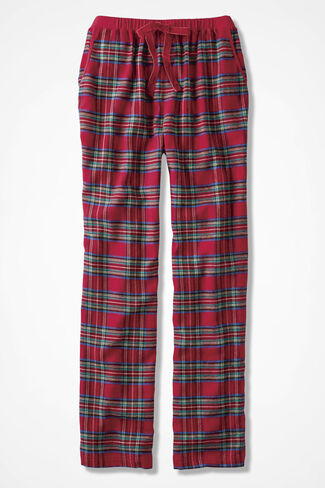 Merry Plaid Flannel PJ Pants, Red Multi, large