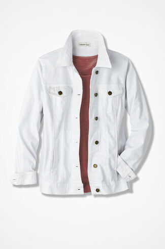 Spirit Santa Fe Denim Jacket, White, large
