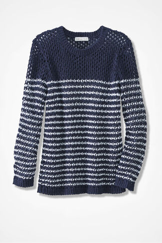 Sea Breezes Sweater, Navy, large