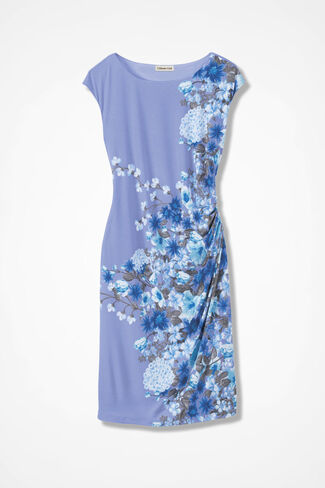 Compliments Cap-Sleeve Dress, Perfect Peri, large