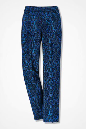 The Jacquard Gallery Pant, Sapphire, large