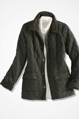 Quilted Barn Jacket, Vine, large
