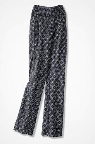 Relax & Rewind Batik Print Pants, Black, large