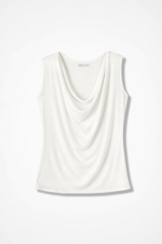 Drape-Neck Shell, Seasalt, large