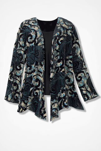 Velvet Artistry Jacket, Black Multi, large