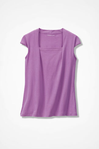 Anytime Square Neck Tank, Pink Lilac, large