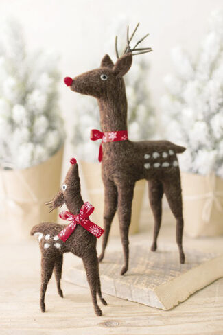 Near and Deer Duo, Brown, large