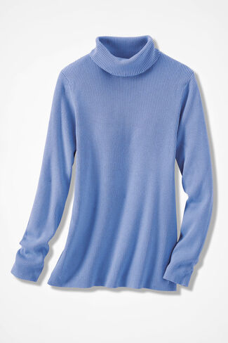 Classic Turtleneck Sweater, French Blue, large