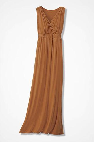 Elegant Maxi Dress, Terracotta, large