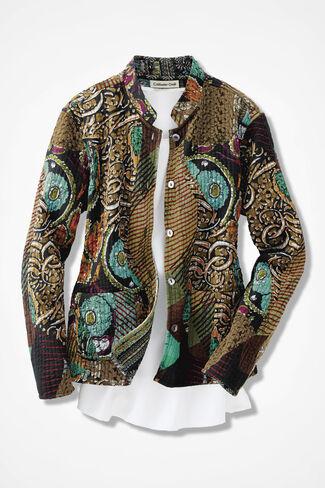 Fantasia Reversible Jacket, Black Multi, large
