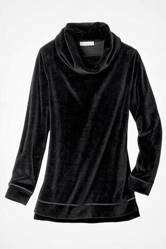 Velour du Jour Tunic, Black, large