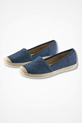 """Sheridan"" Espadrilles by Comfortiva®, Denim, large"