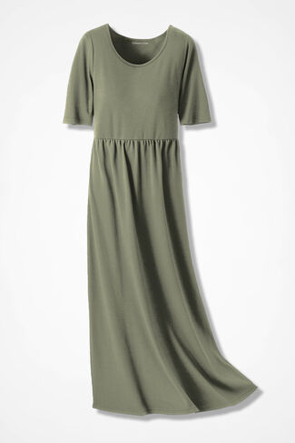 Supima® Long Story Maxi Dress, Light Vine, large