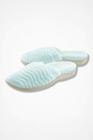 """Spa Support Scuff"" Slippers by Acorn®, Mint, large"