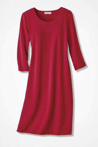 Simply Charming Skimmer Dress, Fresh Red, large