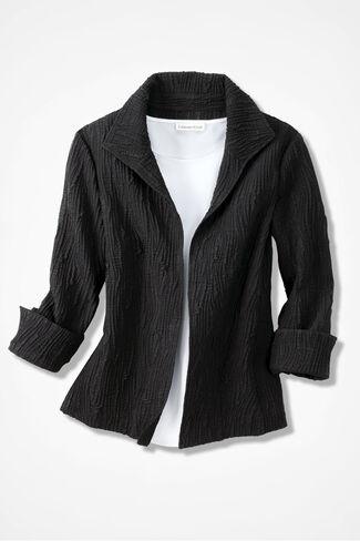 Effortless Cloqué Jacket, Black, large