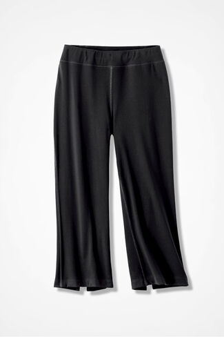 Relax & Rewind Crop Pants, Black, large