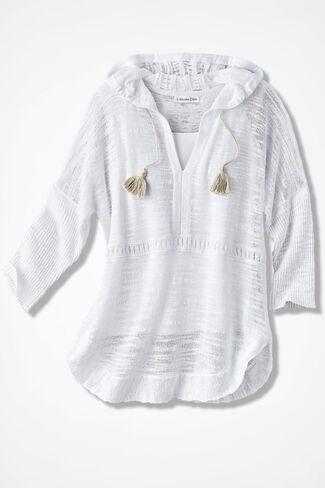 Santa Cruz Hooded Sweater, White, large