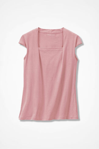 Anytime Square Neck Tank, Wood Rose, large
