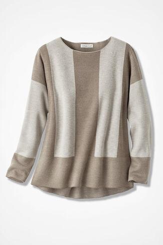 Modern Gallery Sweater, Oatmeal, large