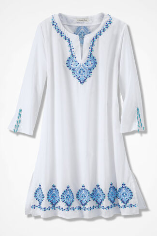 Sand-N-Sea Cover-up, White, large