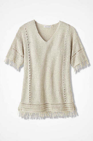 Fringe Delight Sweater, Birch, large