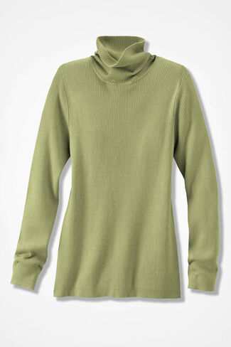 Classic Turtleneck Sweater, Fern, large