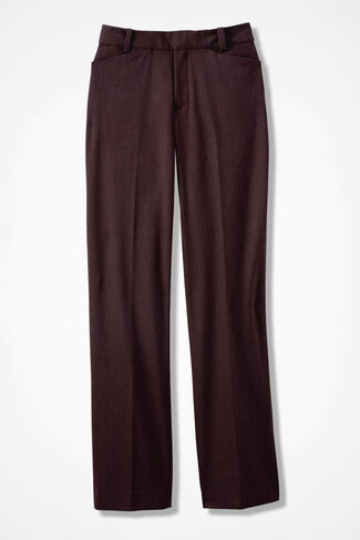 The Curvy ShapeMe® Studio Pant®, Heather Burgundy, large
