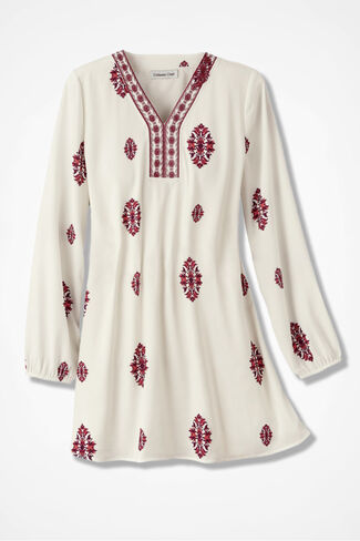 Snowlands Embroidered Tunic, Ivory, large