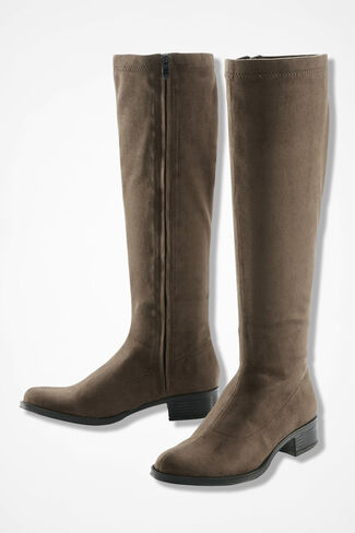 """""""Scout"""" Waterproof Faux Suede Boots by Bussola®, Taupe, large"""