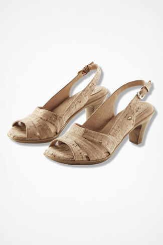 """Neima"" Slingbacks by SoftSpots®, Cork, large"