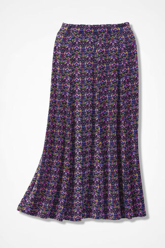 Destinations Stained Glass Print Gored Skirt, Pink Lilac, large