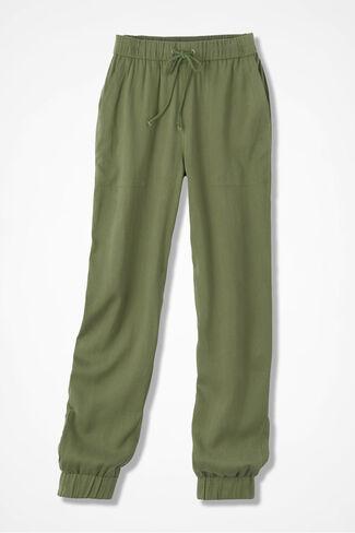 Tencel® Jogger Pants, Loden, large