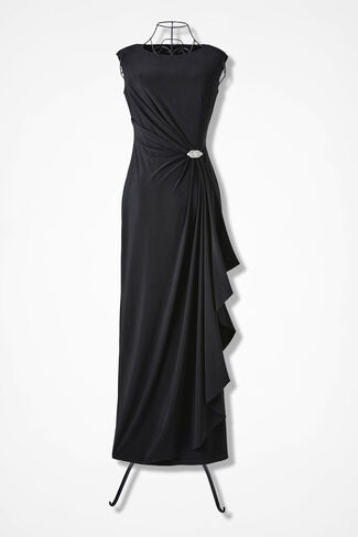 Starshine Evening Dress, Black, large