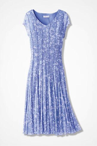 Floral Mesh Knit Dress, Perfect Peri, large