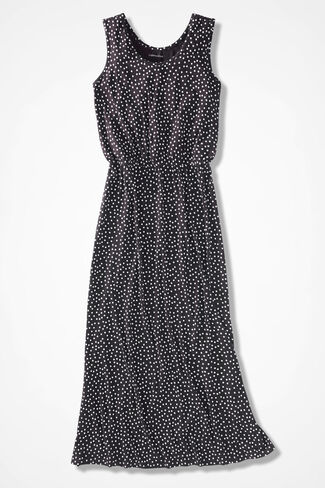 Million-Dot Maxi Dress, Black, large